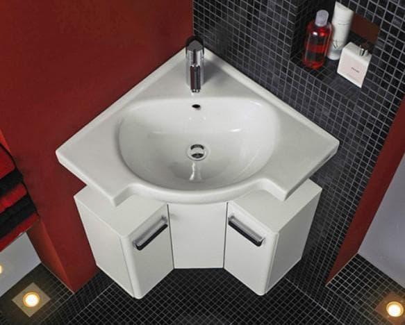 угловые раковины для ванной комнаты