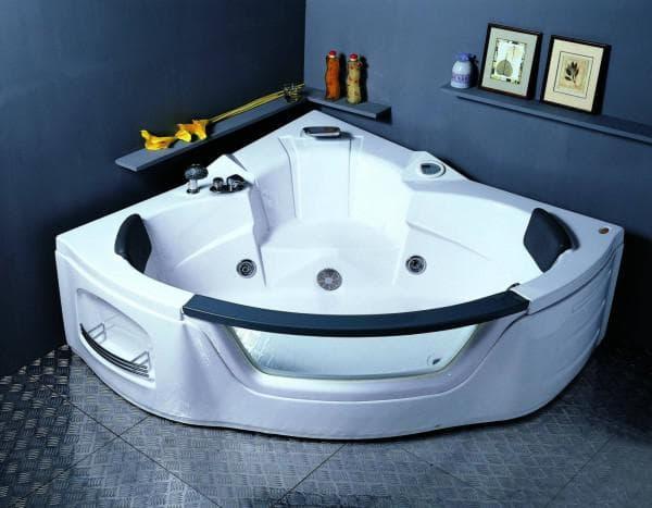 угловая ванная с гидромассажем