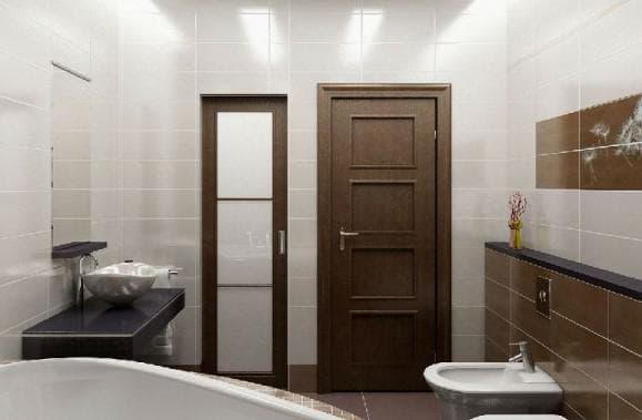 ламинированные двери для ванной и туалета
