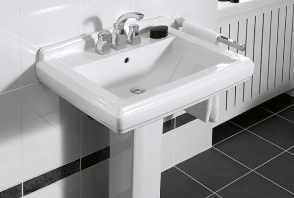 раковина в ванную комнату с пьедесталом
