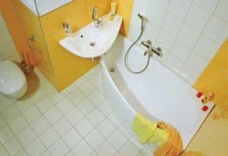 угловая ванная для дома