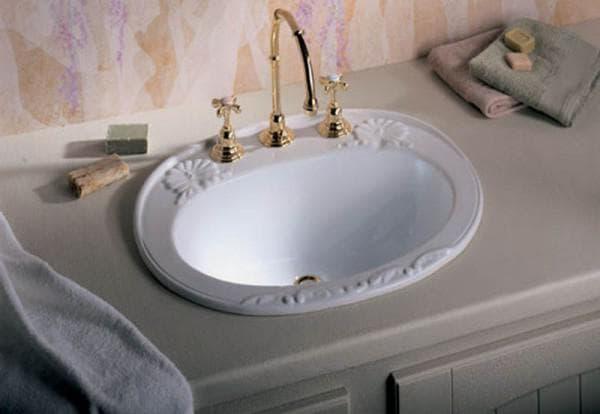 овальная раковина в ванную комнату