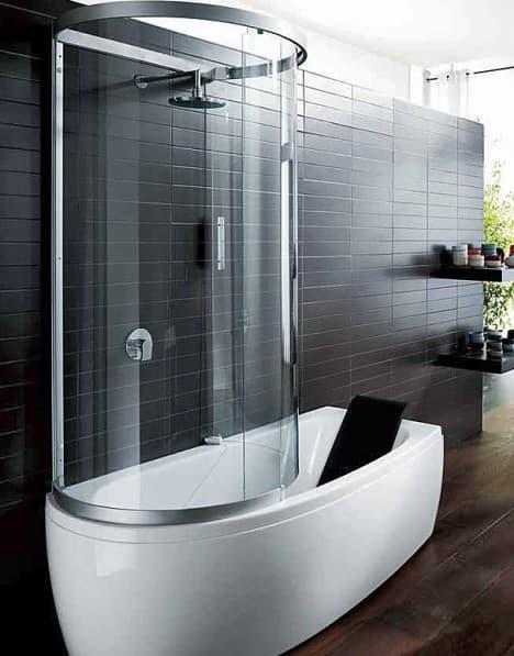 ванна акриловая совмещённая с кобинкой