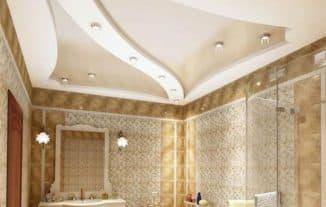 потолок в ванной комнате какой выбрать для дома