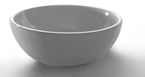 раковина накладная в виде круглой чаши из фаянса
