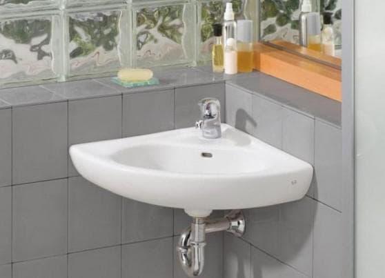 угловая раковина в ванную комнату