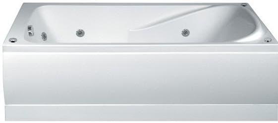 ванна акриловая в форме прямоугольника