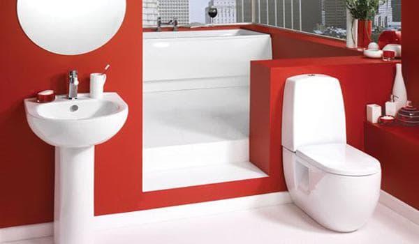 напольная маленькая раковина в туалет