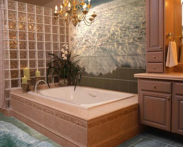 плитка для ванной в 3 D