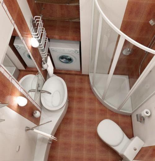 дизайн маленькой ванной комнаты без ванны