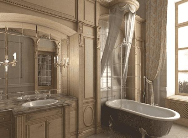 ванная комната дизайн классический