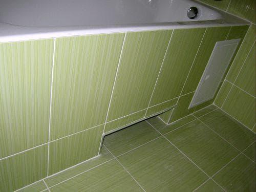 экран под ванну с нишей для ног