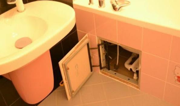 экран под ванну с одним люком