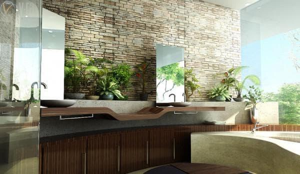 ванная комната дизайн эко