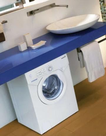 стиральная машинка от Bosch под раковиной