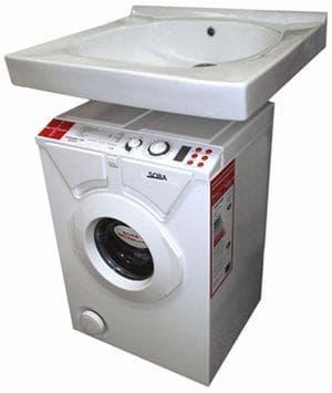 стиральная машинка от Eurosoba под раковиной