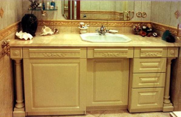 встроенная мебель для ванной