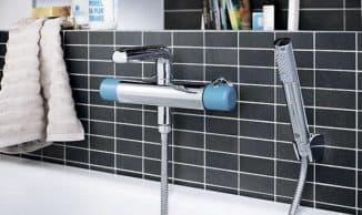смеситель для ванной с душем с термостатом для дома