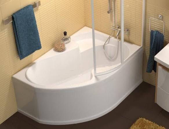 асимметричная угловая ванная