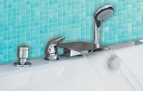 врезные смеситель для ванной с душем