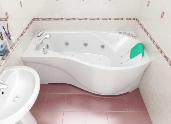 угловая асимметричная ванная