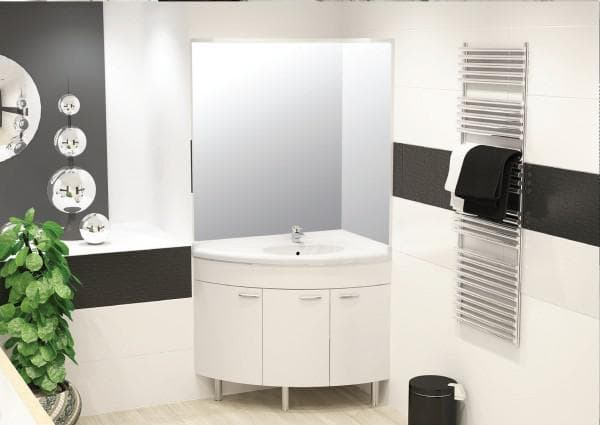 угловые раковины для ванной комнаты с тумбой