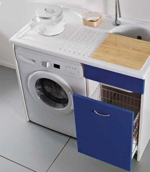 раковина c крылом под стиральную машину