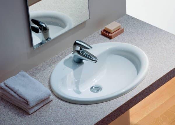 встраиваемая раковина в ванную комнату