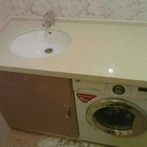 столешница из ламинированного ДСП в ванную комнату