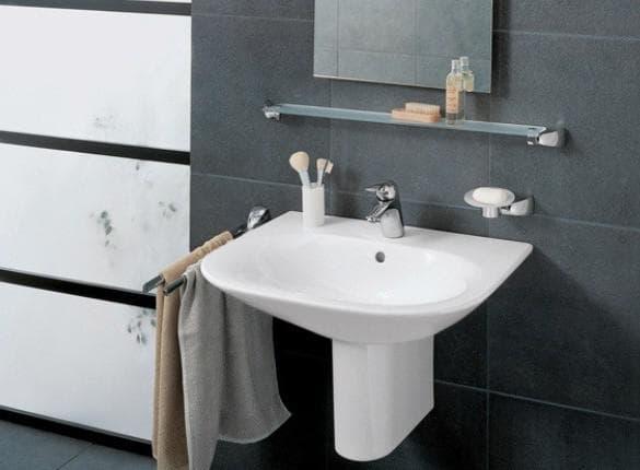 раковина в ванную комнату с полупьедесталом