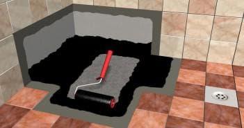 гидроизоляция ванной комнаты под плитку битумной мастикой