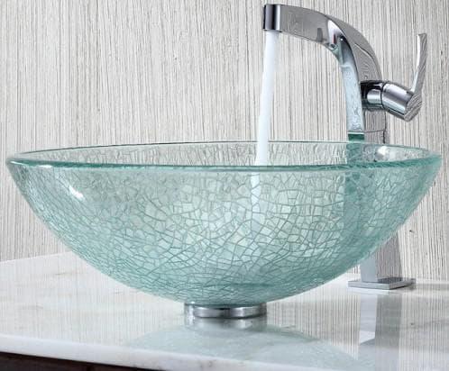 металлическая раковина в ванную комнату