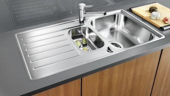 мойка для кухни из нержавеющей стали полированная
