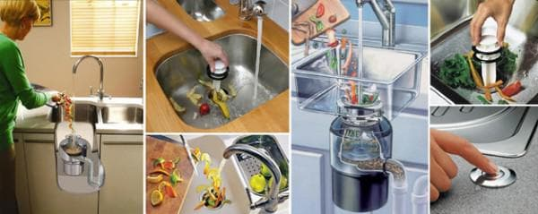 электрический измельчитель пищевых отходов для раковины